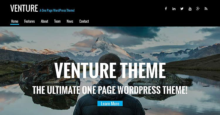 Download Venture One Page WP Theme Now!