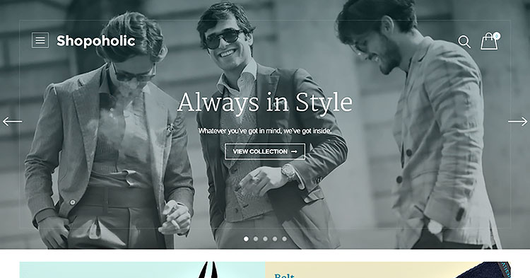 Shopoholic Ecommerce WP Theme