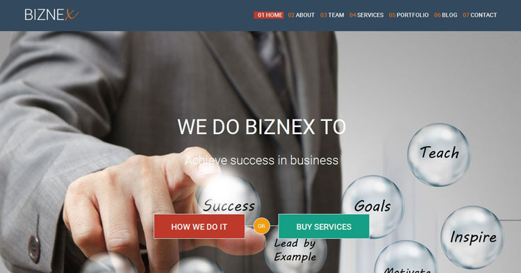 Biznex Business WP Theme