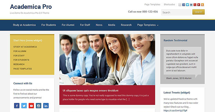 Download Academica Pro Education WP Theme now!