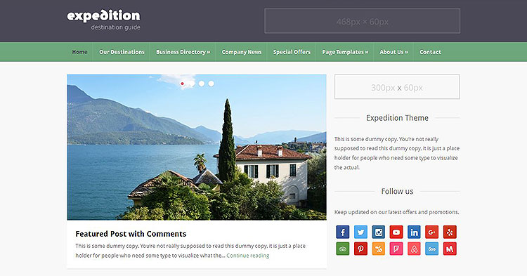 Expedition Directory WP Theme