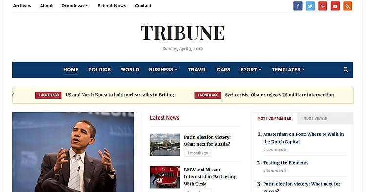 Tribune Newspaper WP Theme