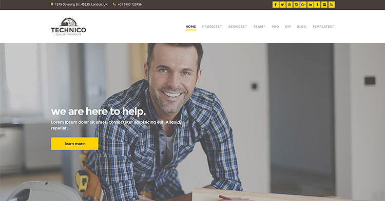 Download Technico Building Construction WP Theme now!