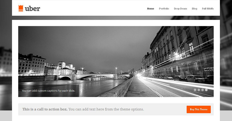 Download Uber WordPress Theme now!