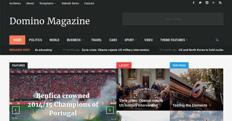 Download Domino Theme for News Magazine Now!