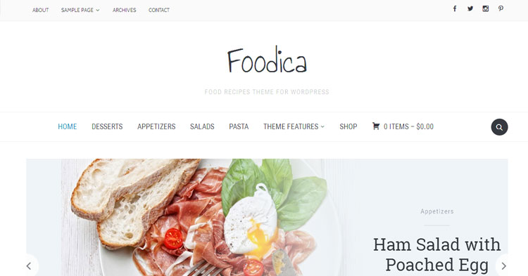 Foodica Pro Recipe Magazine WP Theme