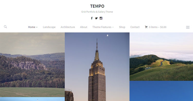 Tempo Photography Portfolio WP Theme