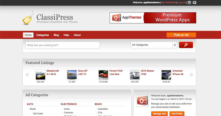 Classipress WordPress Classified Theme