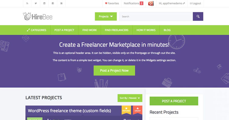 Download HireBee WordPress Freelancer Theme now!