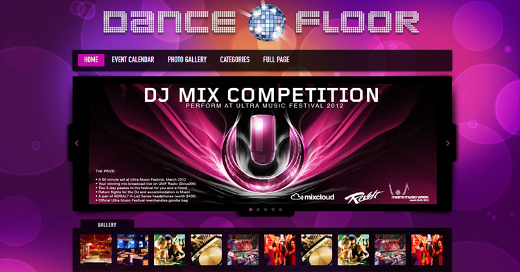 Dance Floor DJ WP Theme