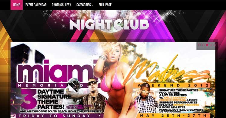 Download Nightclub WP Theme now!