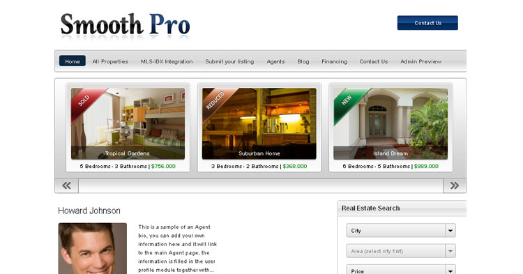 Download Smooth Pro Real Estate WP Theme now!