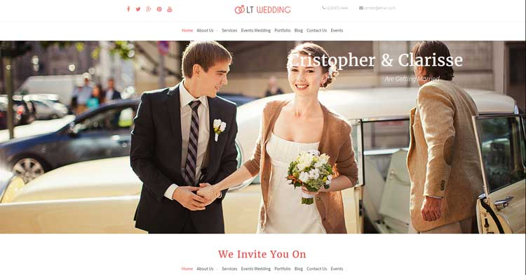 Download Wedding Planner WordPress Theme Now!