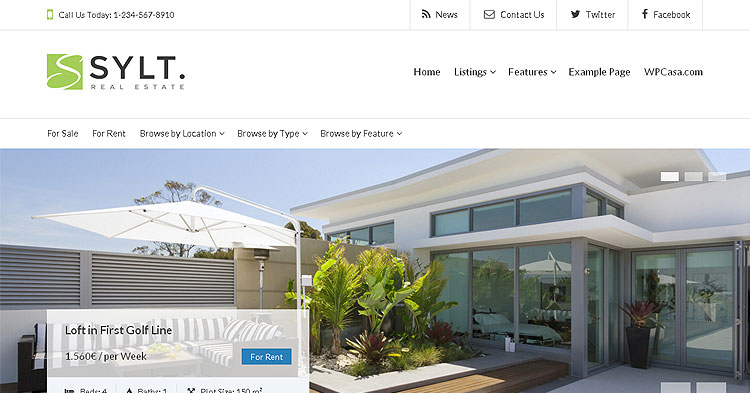 Download Sylt Real Estate WP Theme now!