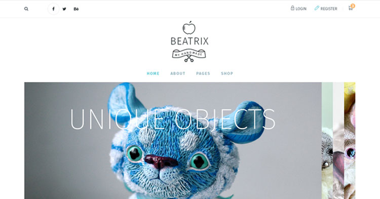 Beatrix Handmade Shop WordPress Theme