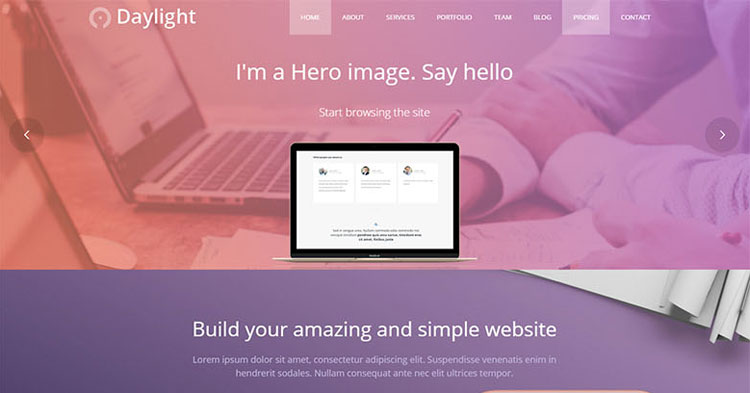 Daylight Business WordPress Theme
