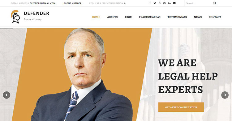 Defender – Attorney & Lawyer WP Theme