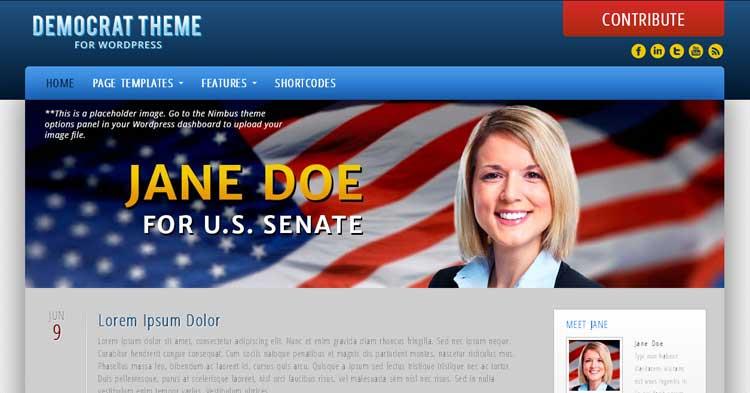 Download Democrat  – Political Campaign WP Theme now!