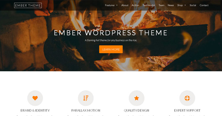 Download Ember Pro One Page WP Theme Now!