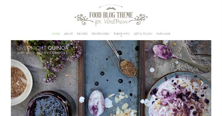 Food Blog WordPress Theme