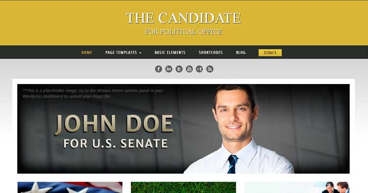 Download Libertarian Political Campaign WP Theme now!