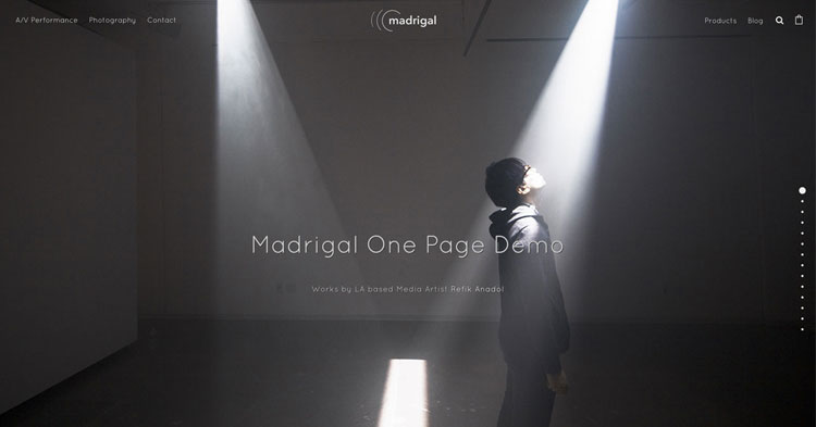 Madrigal Minimal One Page WP Theme