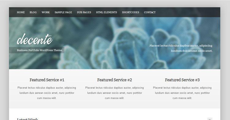 Download deCente Business Portfolio Theme now!