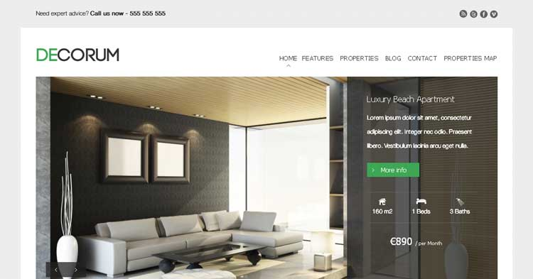 Download deCorum Real Estate WordPress now!
