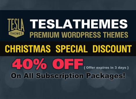 Teslathemes Christmas Deal