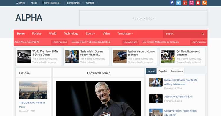 Download Alpha Magazine WordPress Theme Now!