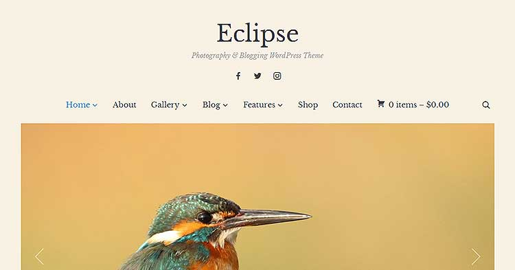 Eclipse Photo Blog WordPress Theme