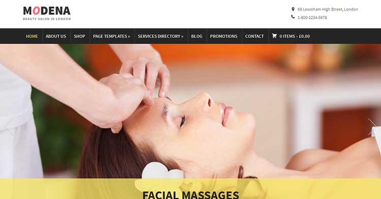 Modena SPA Salon WordPress Theme