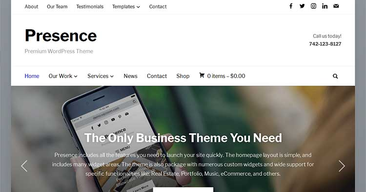 Download Presence Multipurpose WordPress Theme now!
