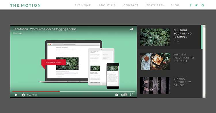 TheMotion Video Blogging WP Theme