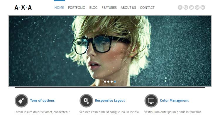 Axa Responsive WordPress Theme