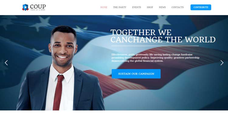 Download Coup – Political Campaign WP Theme now!