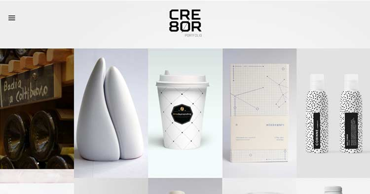 CRE8OR Minimal Portfolio WP Theme