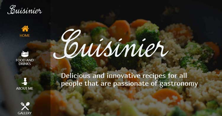 Cuisinier Food Blog WordPress Theme