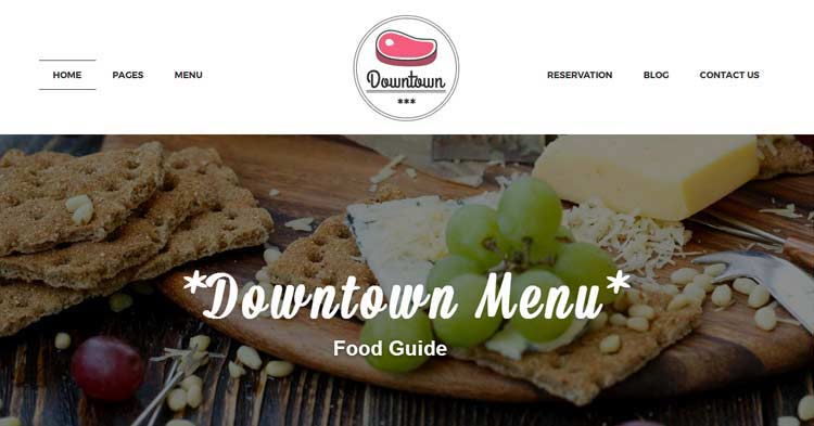 Download Downtown Restaurant WordPress Theme Now!