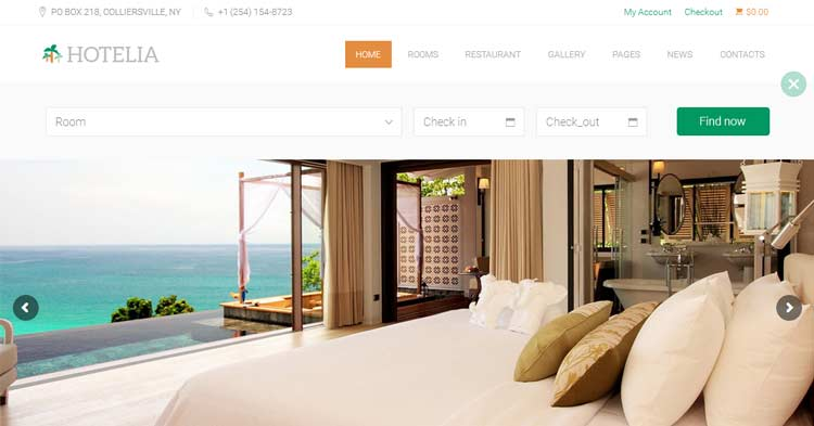 Hotelia WordPress Theme for Hotels