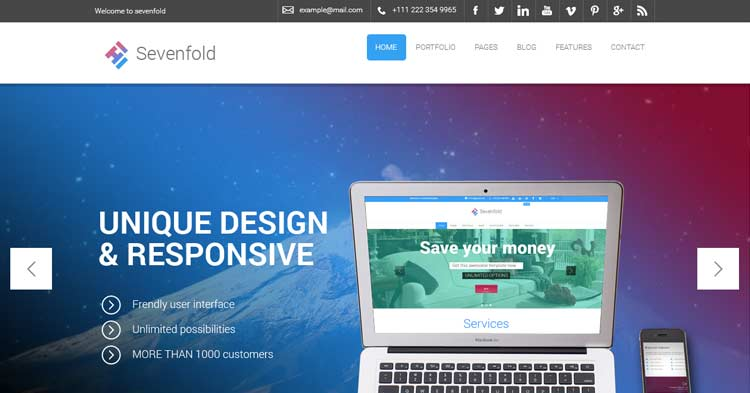 Sevenfold Creative Agency WP Theme