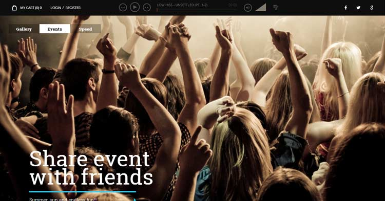 Superstar Music Band WordPress Theme