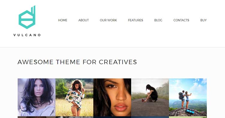 Vulcano Creative WordPress Theme