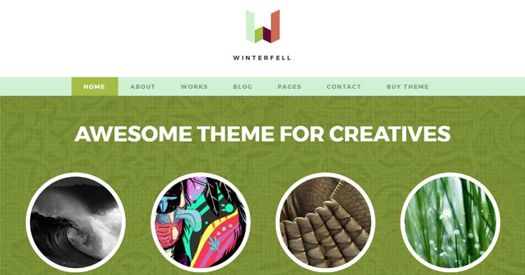 Winterfell – Creative WordPress Theme