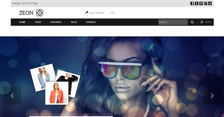 Download Zeon Ecommerce WordPress Theme Now!
