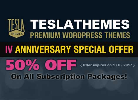 Teslathemes 4th Anniversary Deal