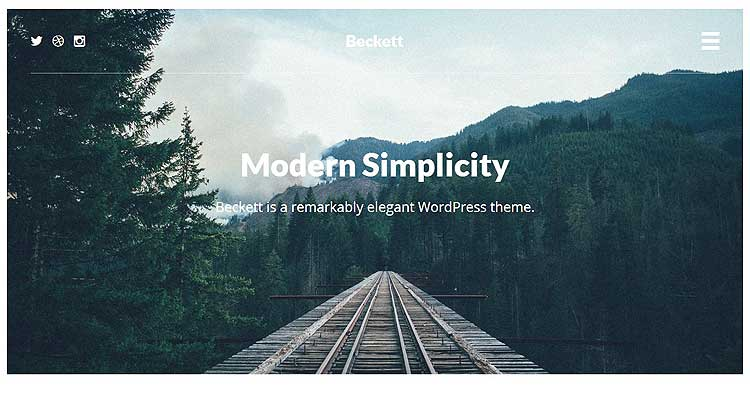 Download Beckett WordPress Theme Now!