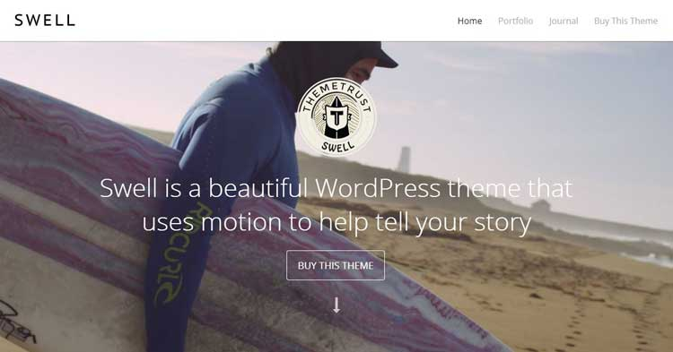 Swell Video BG WordPress Theme