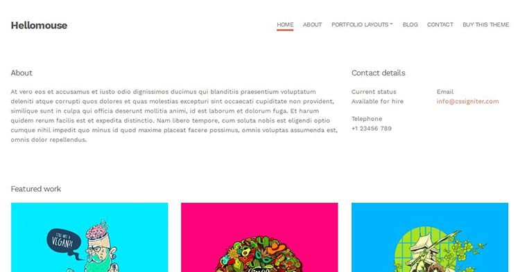 Download Hellomouse Portfolio WordPress Theme Now!