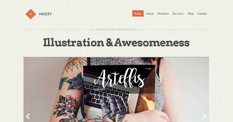 Mozzy Clean Portfolio WordPress Theme
